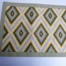 Ikat Diamonds Grey Brown Placemats Set