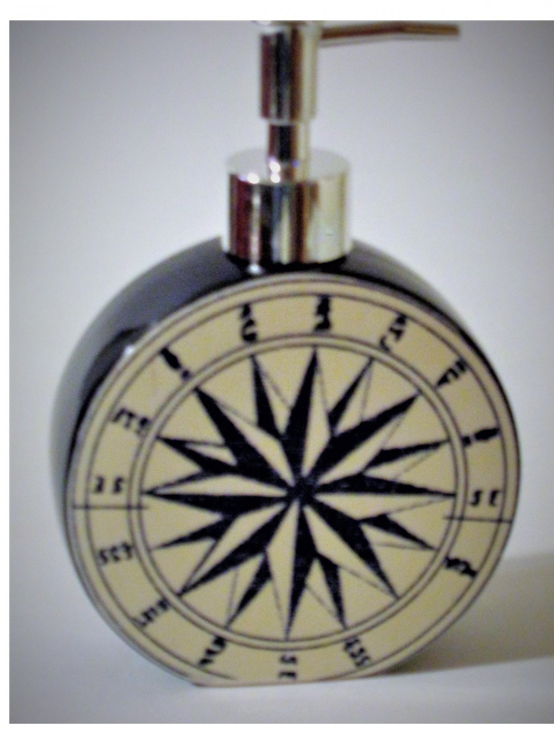 Nautical Ship Compass Lotion Pump Soap Dispenser Beach
