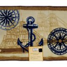 Ocean Life Nautical Bath Mat Anchor Seashells Compass Beach Rug