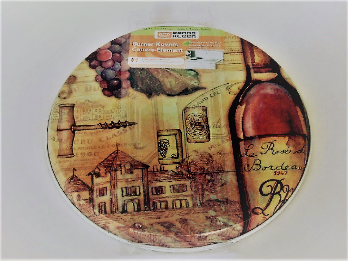Wine Grapes Stove Burner Covers