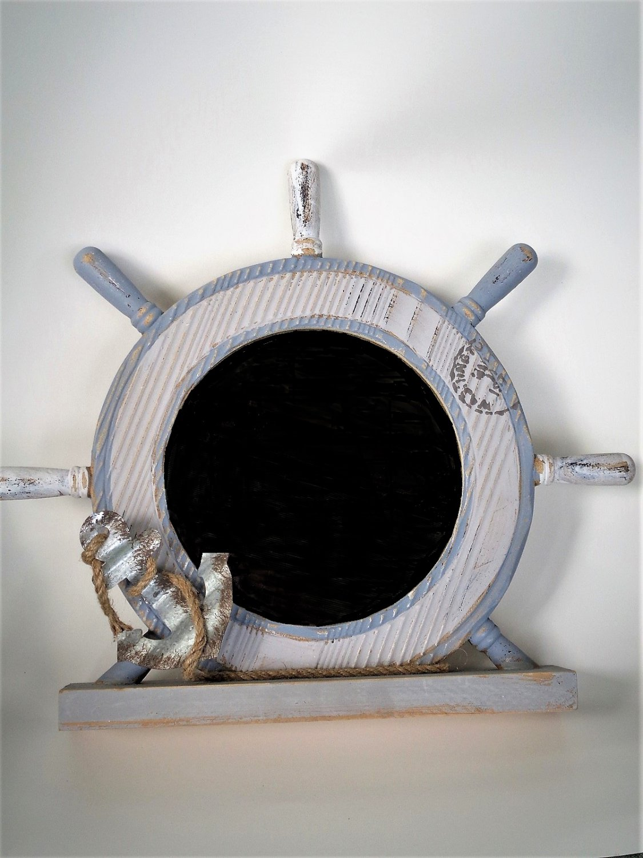 Nautical Mirror Ships Wheel Anchor Beach Decor