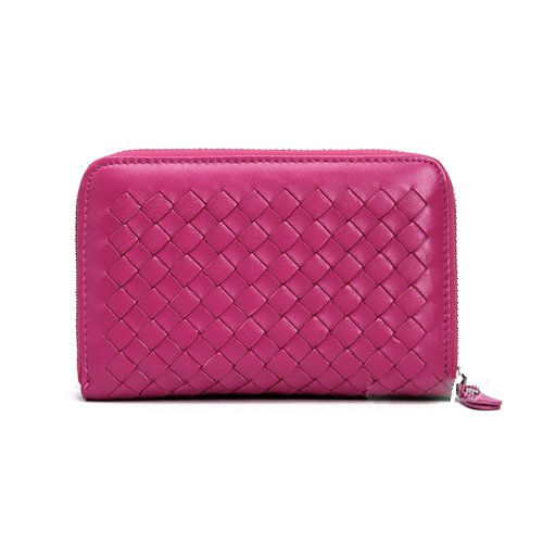 Walta Sheepskin Leather Wallet LH979 Rose Red