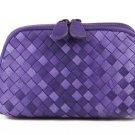 Isaac Sheepskin Double Color Purse LH855 Purple