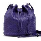 Wafa Sheepskin Leather Cross Body Bag LH981 Purple