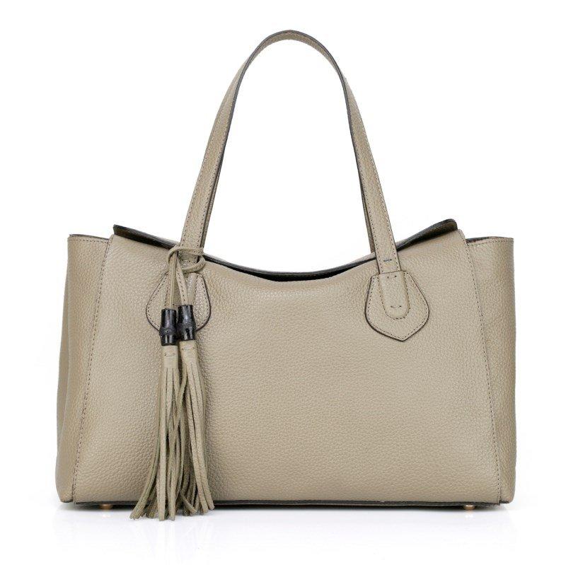 Sabrine Cowhide Leather Shoulder Bag LH1060 Latte