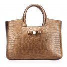 Brilo Cowhide Golden Leather Tote LH409