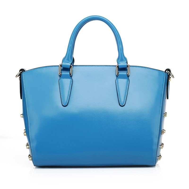 Maguire Top Grain Cowhide Leather Tote LH861 Blue