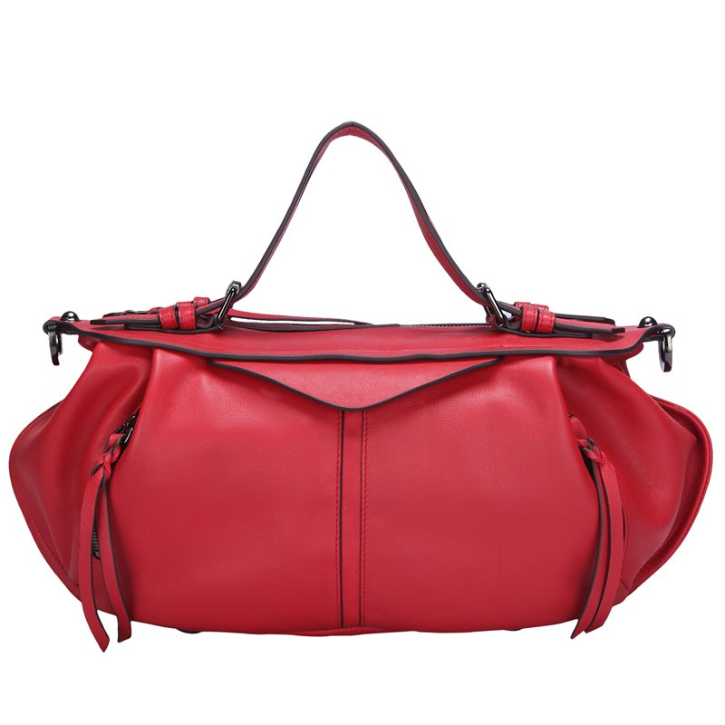 Briar Italian Cowhide Leather Tote LH1190 Red