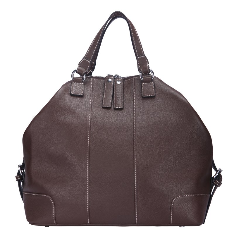 Zoey Italian Cowhide Leather Tote LH1122M Chocolate