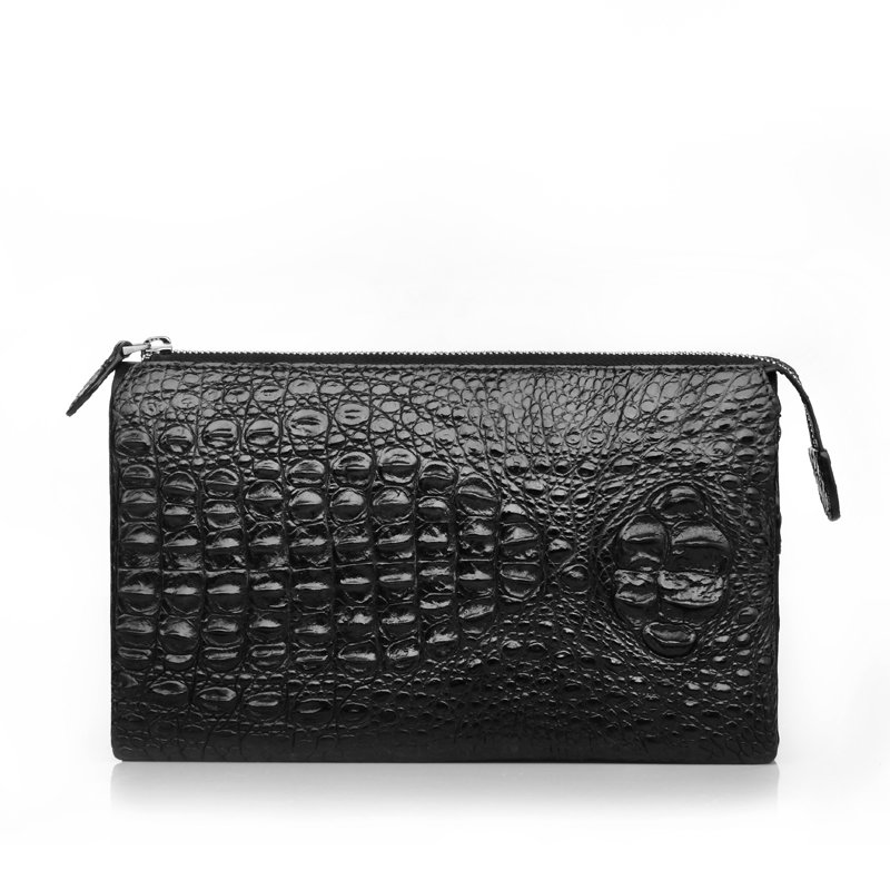 Black Crocodile Mens Leather Wallet LH1135