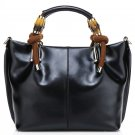 Pollock Black Cowhide Leather Tote LH9181
