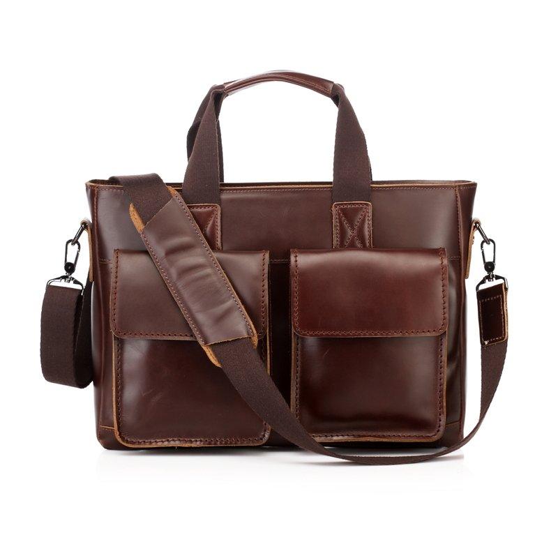 Aarav Vintage Distressed Leather Laptop Bag LH1283
