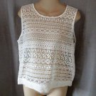 NEW Romeo & Juliet Couture top tank cover-up ivory white crochet cropped $108