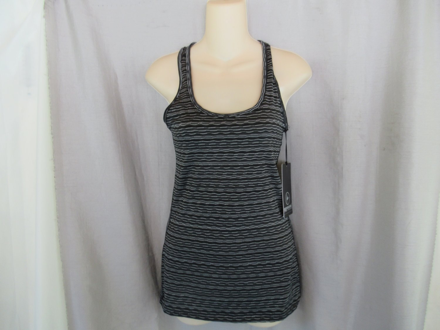 New 90 Degree by Reflex tank top Small black combo racerback TW13030