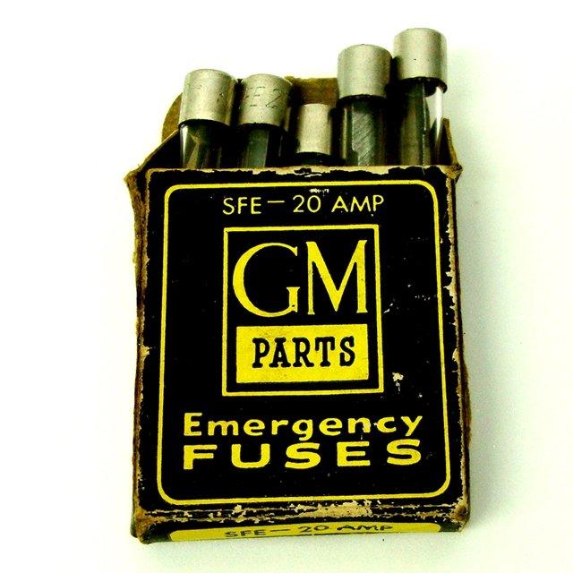 GM Parts Emergency Fuses SFE-20 AMP Vintage 1960's