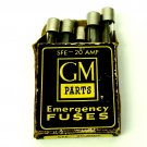 GM Parts Emergency Fuses SFE-20 AMP Vintage 1960's
