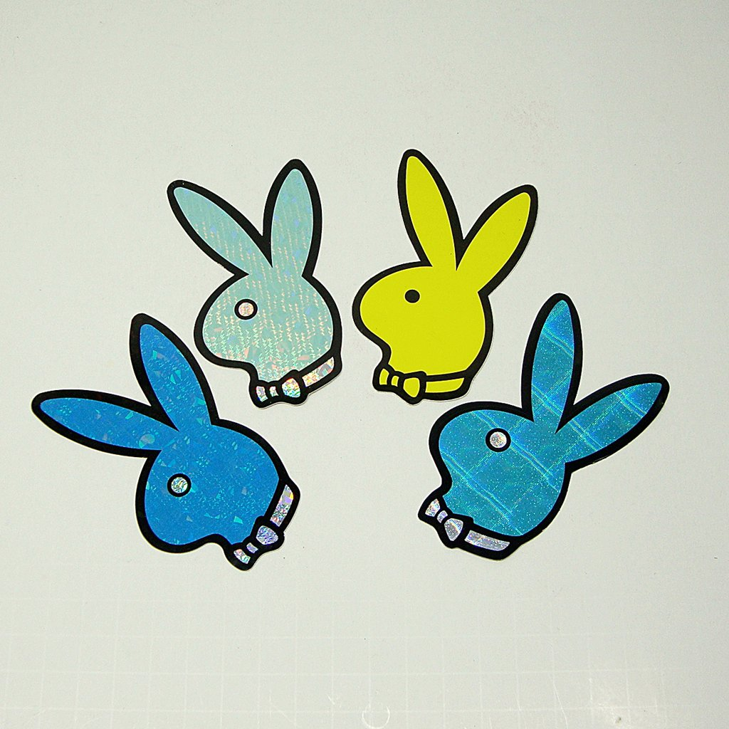 Play Boy Bunny Stickers Lot of 4 1990's Vintage