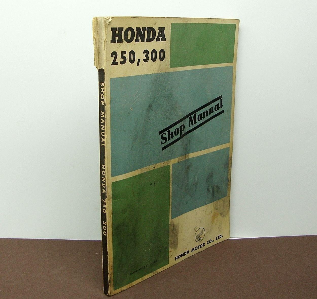 1960 Honda 250,300, C72,CS72 and CB72 Factory Shop Manual Printed In Japan