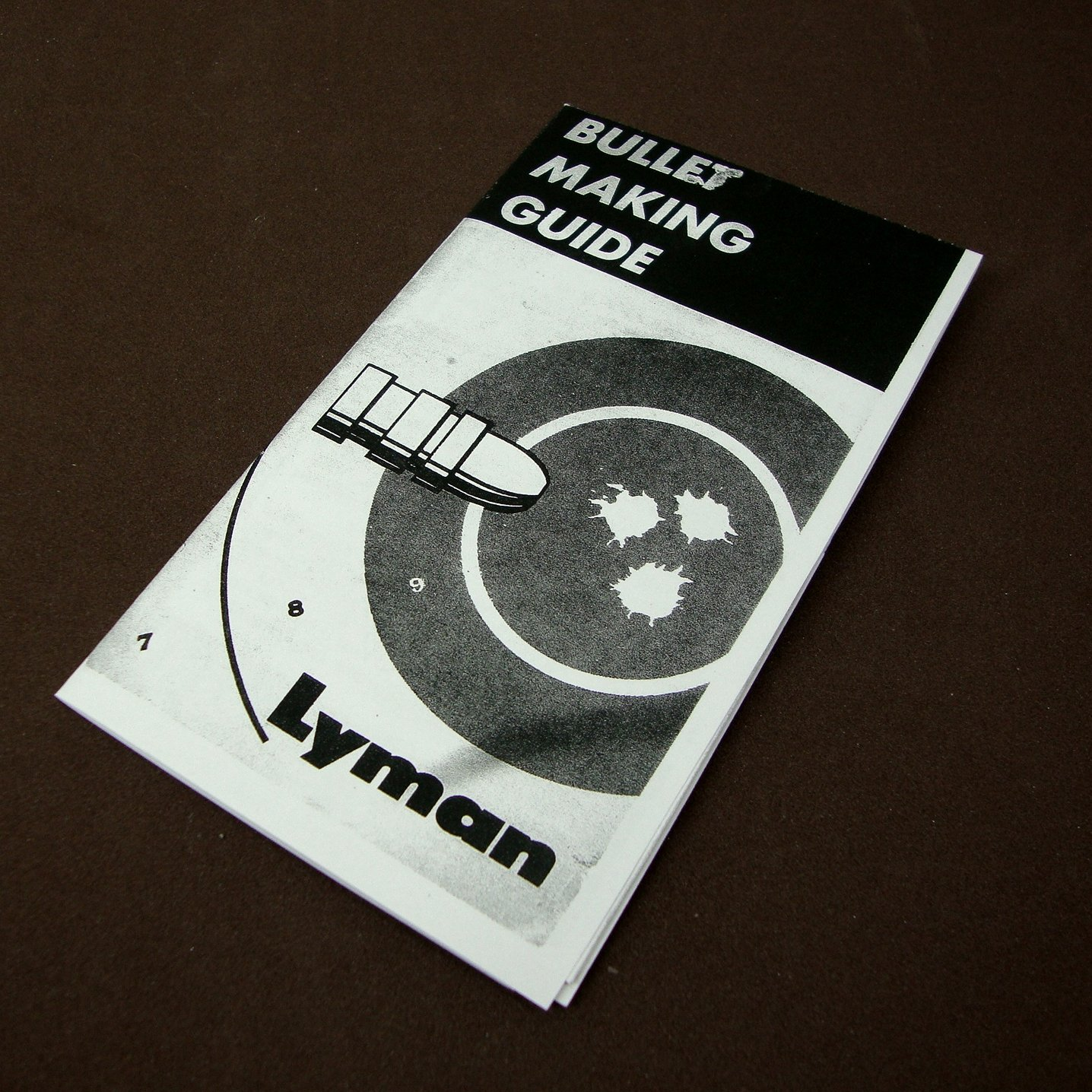LYMAN BULLET MAKING GUIDE, INSTRUCTION SHEET