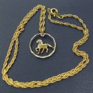 Jewelry Coin Art, Uruguay Horse Coin Necklace