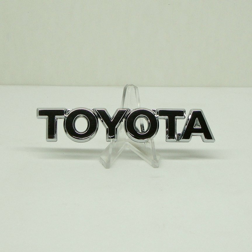 Chrome Toyota Trunk Badge Fender Decal Liftgate Logo Script Emblem Small Script