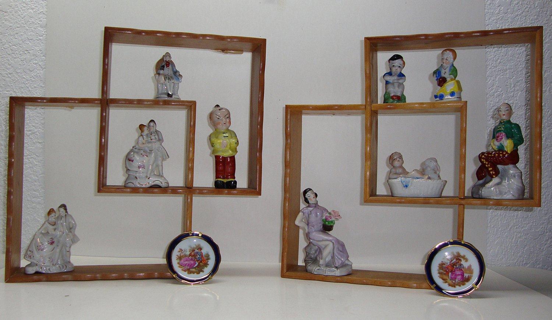 Occupied Japan Figurine W/Display Shelves 1940-1950