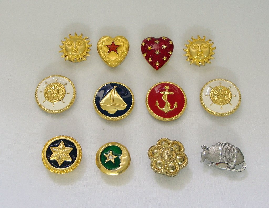 Very Unique Button Covers Seasonal/Mood (lot of 12)