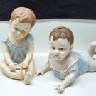 Large Porcelain Babies Lot of 2 Boys