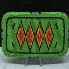 Navajo Beaded Belt Buckle 1940s-1950s