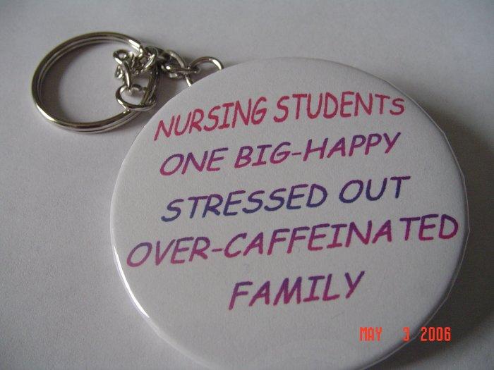New Handmade Nursing Students One Big Happy Family Keychain