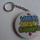World's Best Grandpa Keychain Grandparents children Mom Dad