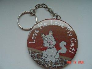 Love Me..Love My Cat Keychain Pets Animal Pet Kittens Cats