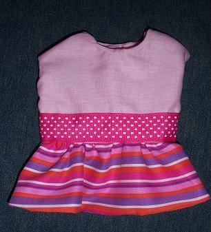 XS Pink Stripes Dog Dress, apparel, clothing, pet, clothes