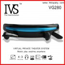 52inch virtual screen mp4 video glasses, 4G memory, tf card up to 32G, free DHL shipping