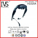 Free DHL shipping 72 inch virtual screen digital video eyewear glasses  with av in function