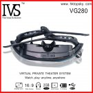 52inch virtual vision video glasses, 4G memory, tf card up to 32G, free DHL shipping