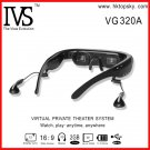 Free DHL shipping 72 inch virtual cinema video glasses 16:9 goggles with av in function