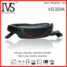 Free DHL shipping 72 inch video glasses player 16:9 goggles with av in function