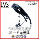 Free DHL shipping 72 inch virtual video screen glasses 16:9 with av in for iphone, ipad, tv ps3 etc