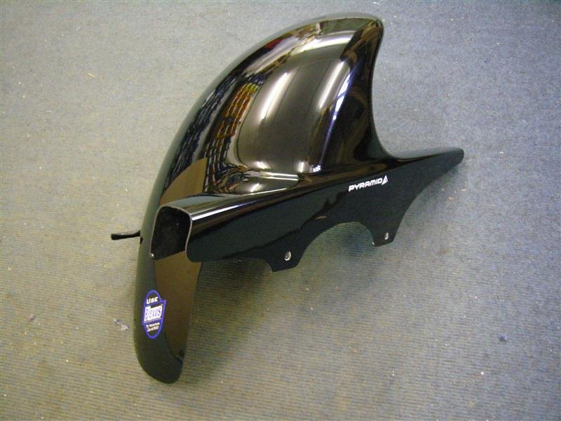 Kawasaki ZX6 (00-02) Hugger: Black 07326B