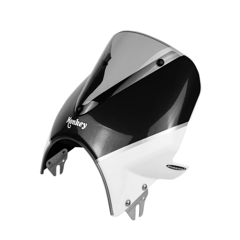 Honda Monkey 125 (18+) Fly Screen: Black / White 21250B