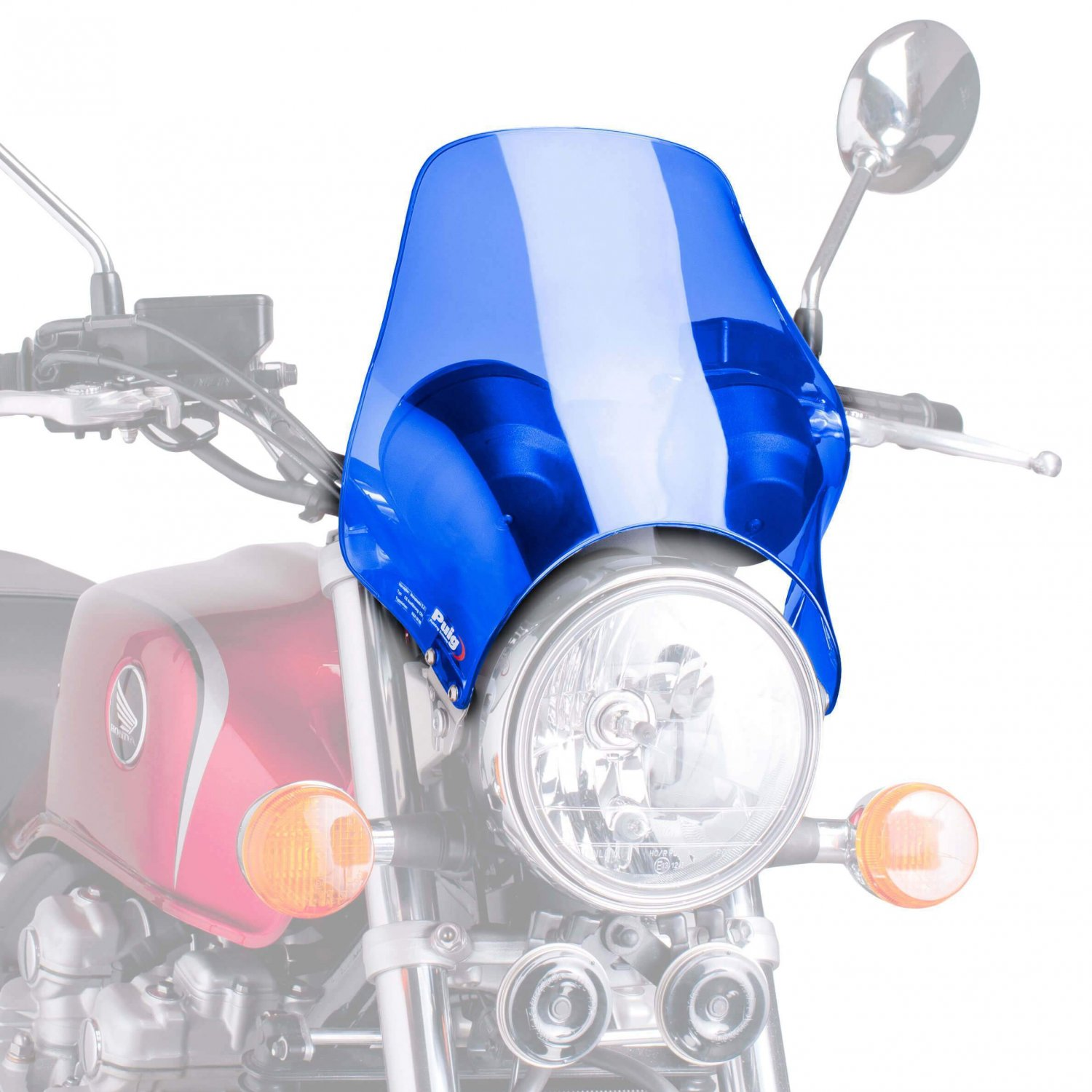 Bugspoiler - Universal Motorcycle Screen for Naked Bikes: Blue M0869A