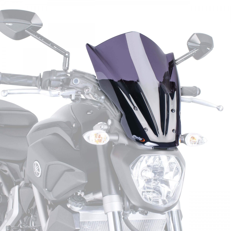 Yamaha MT07 (14-17) Touring Screen: Smoke M7016F