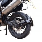 BMW F700GS (13-17) Rear Spray Guard Hugger Alternative Gloss Black 085400B