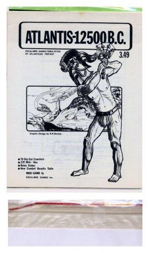 ATLANTIS 12500bc - Excalibre games 1977 simulation fantasy