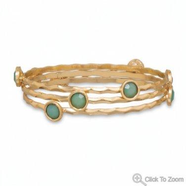 Set of 3 Mint Green Fashion Bangle Bracelets