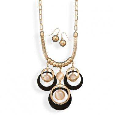 Gold Tone Geometric Fashion Set