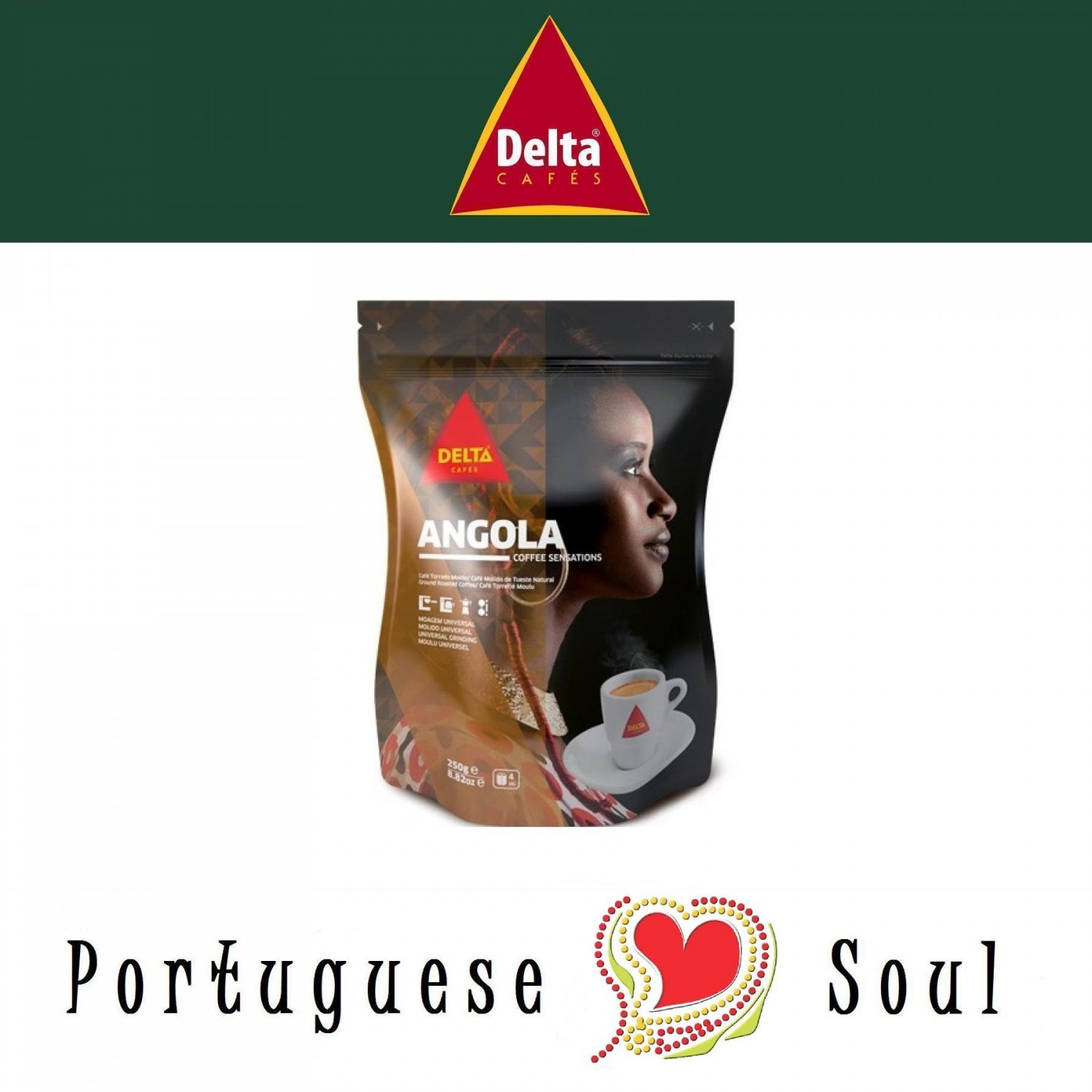 DELTA Roasted Ground Coffee Angola 250g