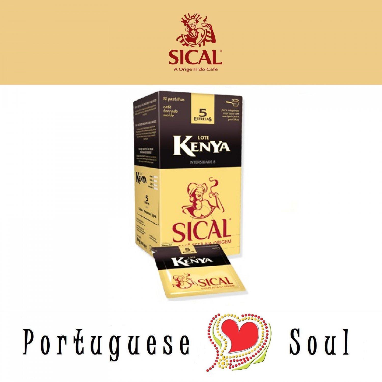 SICAL Roasted Ground Coffee Kenya 16 ESE Pods