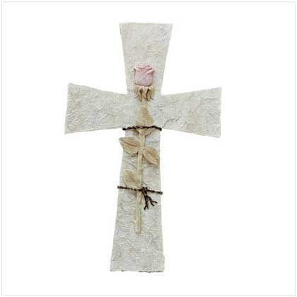 Alab Rose On Stone Cross